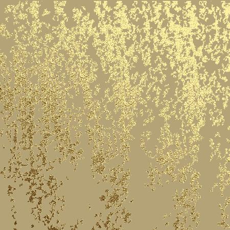 黄金のグランジ テクスチャ緑青金ゼロの効果を作成するため。ベクトル図  イラスト・ベクター素材