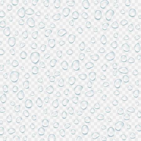 Realistic transparent Water drops. Vector illustration