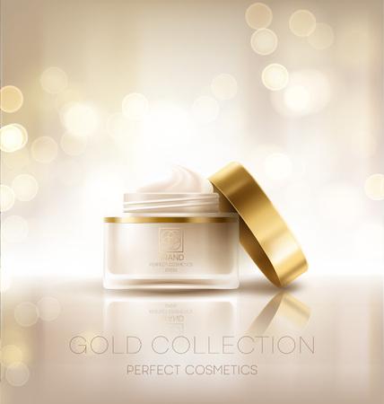 Design cosmetics product advertising. Vector illustration Vectores