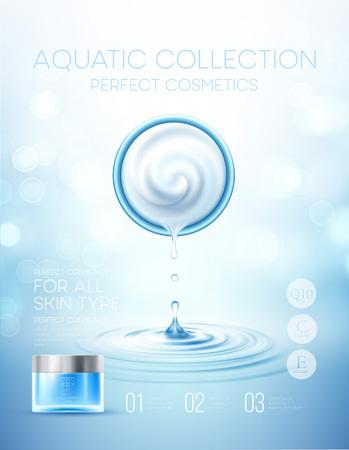 Design cosmetics product advertising. Vector illustration Illustration