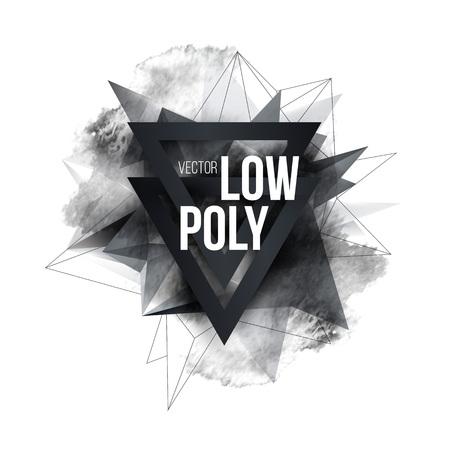 Laag polygoon geometrie vorm posterontwerp. Vector illustratie