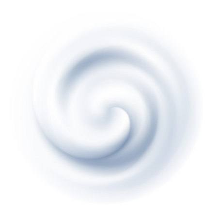 White Swirl Cream Texture Background. Vector illustration Vectores