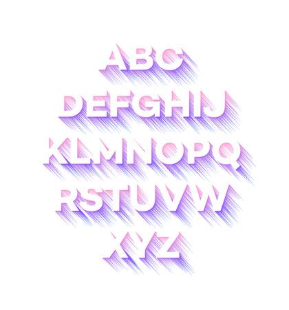 Modern holidays party alphabet. Vector illustration