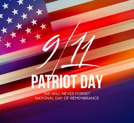 11 septembre 2001 arrière-plan de patriote. Nous n'oublierons jamais. Contexte. Banque d'images - 84432436