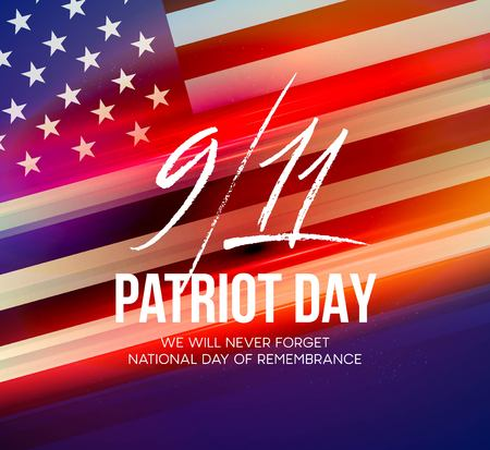 September 11, 2001 patriot day background. We will never forget. Background.