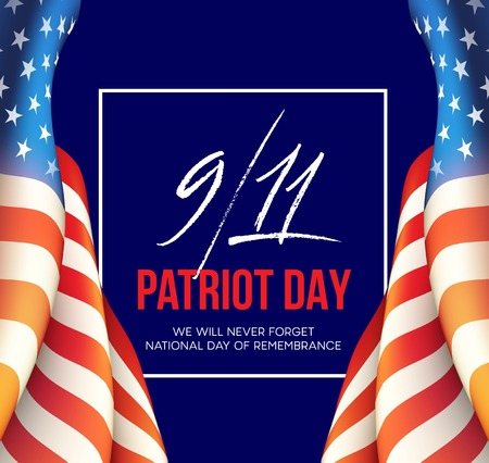 September 11, 2001 Patriot Day background. We Will Never Forget. background. Vector illustration Illustration