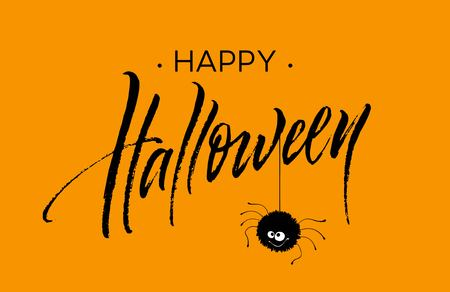 Happy Halloween lettering. Holiday calligraphy for banner, poster, greeting card, party invitation. Vector illustration