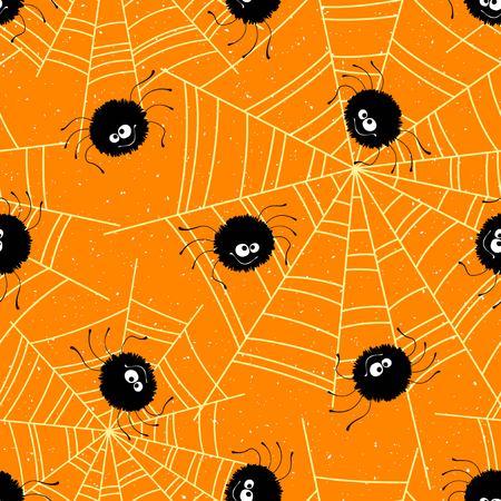 Fondo transparente de Halloween con arañas y web. Ilustración vectorial Foto de archivo - 85858735