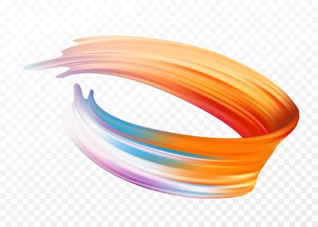 Kleur penseelstreek olie of acrylverf ontwerpelement voor presentaties, flyers, folders, ansichtkaarten en posters. Vector illustratie EPS10