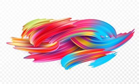 Color brushstroke oil or acrylic paint design element for presentations, flyers, leaflets, postcards and posters. Vector illustration Foto de archivo
