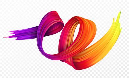 Kleur penseelstreek olie of acrylverf ontwerpelement voor presentaties, flyers, folders, ansichtkaarten en posters. Vector illustratie Stock Illustratie