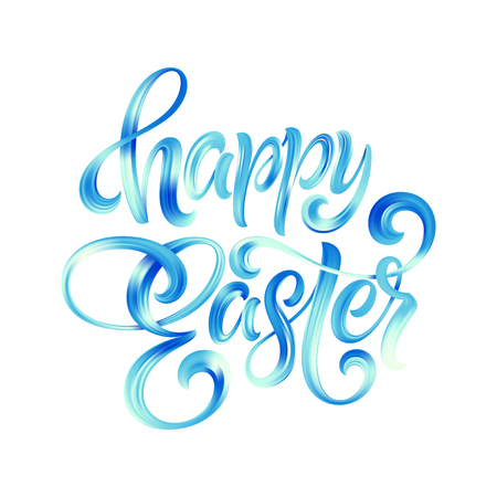 Happy Easter colorful paint lettering 向量圖像