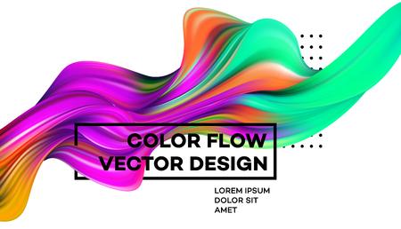 Poster moderno flusso colorato Archivio Fotografico - 94801878