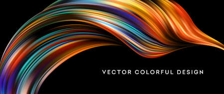 3d Abstract colorful fluid design. Vector illustration Vectores