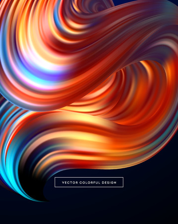 3d abstract colorful fluid design vector illustration.