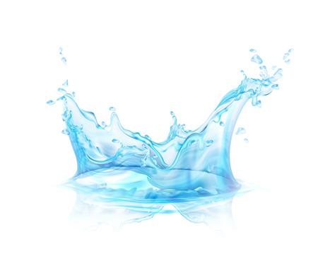 Doorzichtige waterplons die op transparante vectorillustratie wordt geïsoleerd als achtergrond. Vector Illustratie