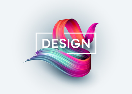 現代のポスターデザインのための明るい色の塗料の汚れ。ベクトル図  イラスト・ベクター素材