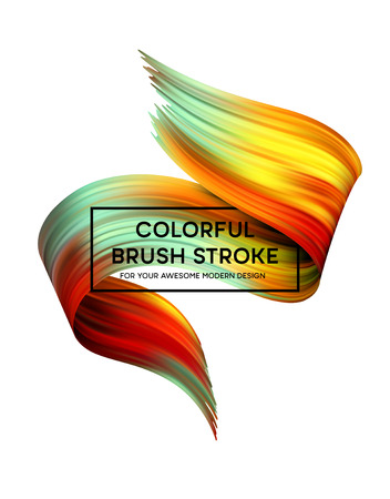 Bright Color Paint Stains for Modern Poster design. Vector illustration Vector Illustration