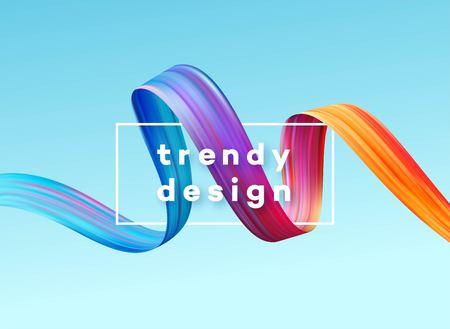Modern colorful flow poster. Wave Liquid shape in blue color background. Art design for your project. Vector illustration