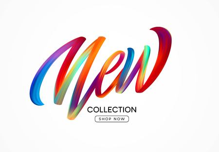Calligraphy New collection. Colorful modern flow lettering. Vector illustration EPS10 Vektorové ilustrace