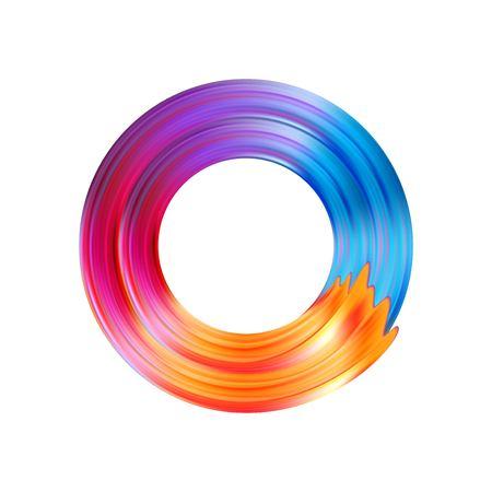Color brushstroke oil or acrylic paint design element. Vector illustration EPS10 Illustration