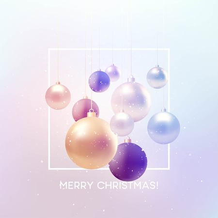 Christmas background with baubles and place for text. Vector Illustration EPS10 Illusztráció