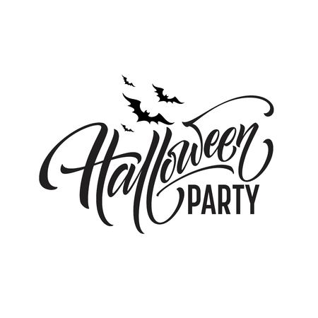 Halloween Party Lettering for invitation, Postcards, poster. Vector illustration EPS10 Vector Illustration