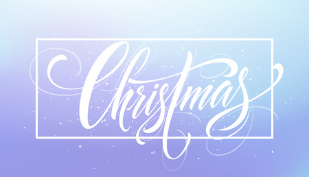 Christmas framed hand drawn lettering