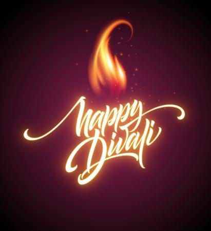 Happy Diwali Festival Bright. Stock Illustratie