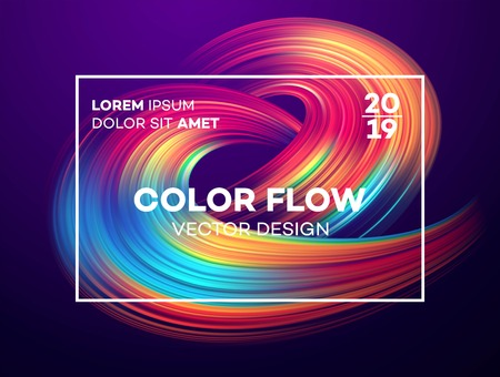 Modern colorful flow poster. Banco de Imagens