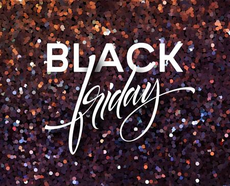 Black Friday banner template with glitter effect Stock fotó