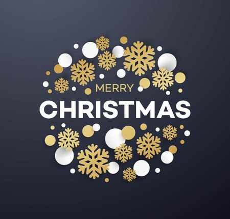 Merry Christmas greeting card template Stok Fotoğraf