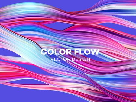 Affiche de flux coloré moderne. Fond de couleur de forme liquide vague. Conception artistique pour votre projet de conception. Illustration vectorielle EPS10