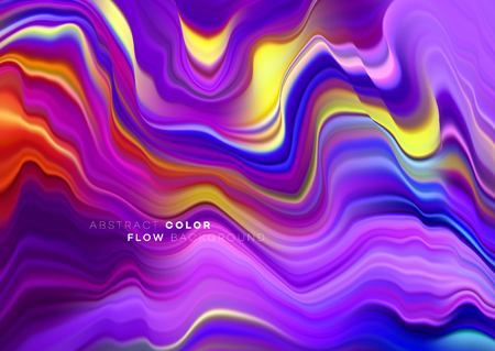 Modern colorful flow poster. Wave Liquid shape in black color background. Art design for your design project. Vector illustration EPS10