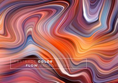 Modernes buntes Flow-Poster. Wellenförmige flüssige Form im schwarzen Farbhintergrund. Kunstdesign für Ihr Designprojekt. Vektorillustration EPS10