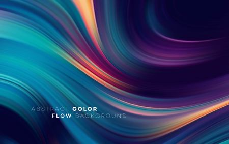 Modern colorful flow poster. Wave Liquid shape in black color background. Art design for your design project. Vector illustration Stock fotó - 116155177