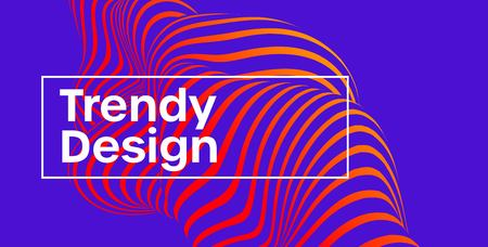 Trendy design. Moving color lines of abstract background. Vector illustration