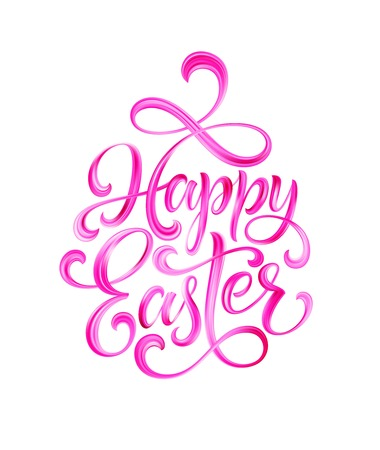 Happy Easter colorful paint lettering. Vector illustration EPS10