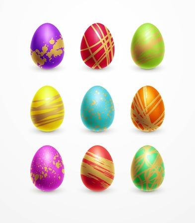 Set of color Easter eggs. Standard-Bild - 118472311