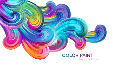 Modern colorful flow poster. Wave Liquid shape color paint. Art design for your design project. Vector illustration EPS10 Banque d'images - 120728336