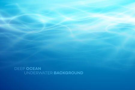 Eau profonde bleue et fond naturel abstrait de la mer. Illustration vectorielle Eps10 Vecteurs