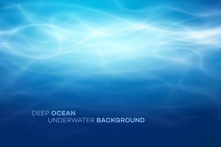 Blauwe diep water en zee abstracte natuurlijke achtergrond. Vector illustratie eps10