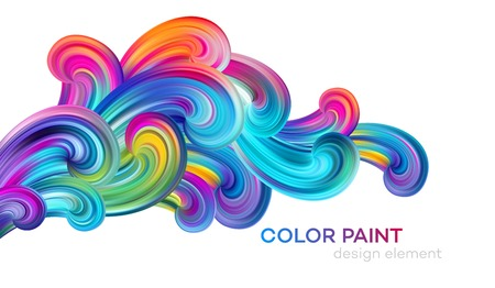 Modern colorful flow poster. Wave Liquid shape color paint. Art design for your design project. Vector illustration EPS10