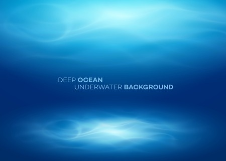 Blue deep water and sea abstract natural background. Vector illustration EPS10