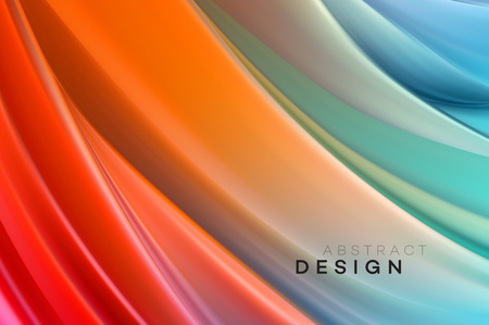 Color Flow Abstract shape poster design. Vector illustration EPS10