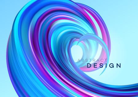 Diseño de cartel de forma abstracta de flujo de color. Ilustración de vector EPS10
