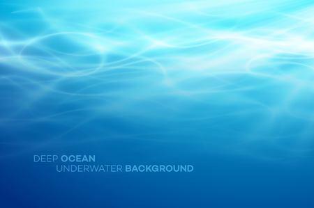 Fondo natural abstracto azul de las aguas profundas y del mar. Ilustración de vector EPS10