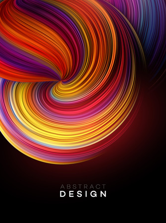 Diseño de cartel de forma abstracta de flujo de color. Ilustración de vector EPS10 Ilustración de vector