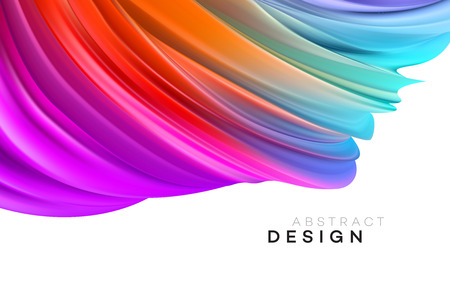 Color Flow Abstract shape poster design. Vector illustration EPS10 Фото со стока - 124060776
