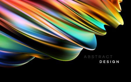 Color Flow Abstract shape poster design. Vector illustration EPS10 Banco de Imagens - 124060780